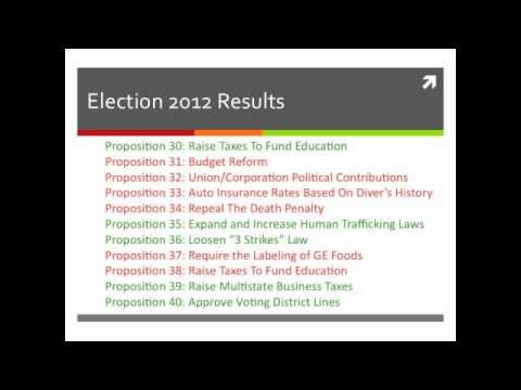 California General Election 2012 Results