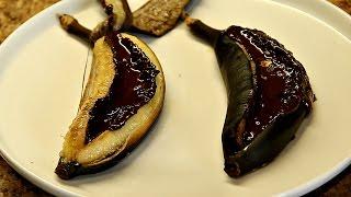 Запеченные бананы с шоколадом в духовке