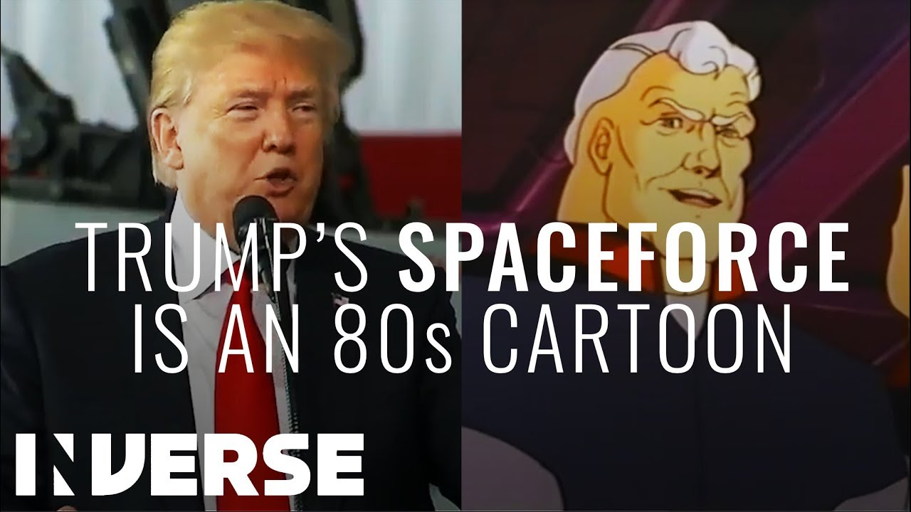 Space Force Speech Synced With Space Force 1978 Cartoon Inverse Youtube
