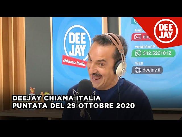 Deejay Chiama Italia - Puntata del 29 ottobre 2020