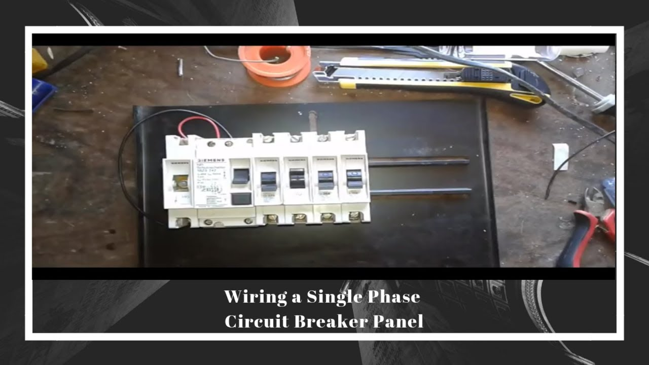 Wiring A Single Phase House Circuit Breaker Panel 2018 Youtube