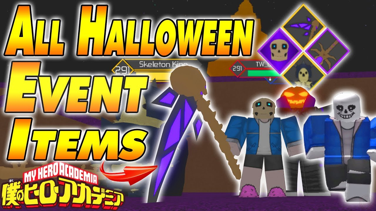 All Halloween Event Items Heroes Online Youtube