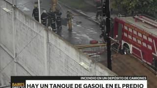 Incendio en un depósito en Caseros - Telefe Noticias