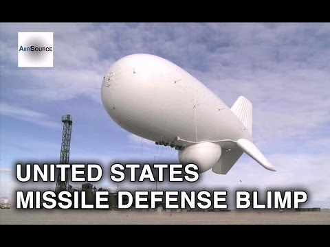 US Army's Missile Defense Blimp (JLENS) Launching & Recovering