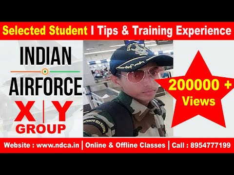 Indian Air Force (Group- X) student sharing his Training Exp