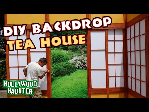 Diy Photography Backdrops Making A Tea House Facade Forest Scene Cosplay Photo Sets Youtube