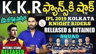 KKR IPL TEAM 2019 | Released & Retained Players | Sports News | Eagle Media Works