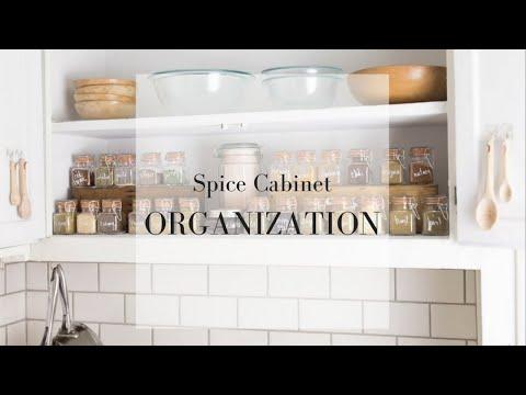 Spice Cabinet Organization Ideas | Minimalist Kitchen