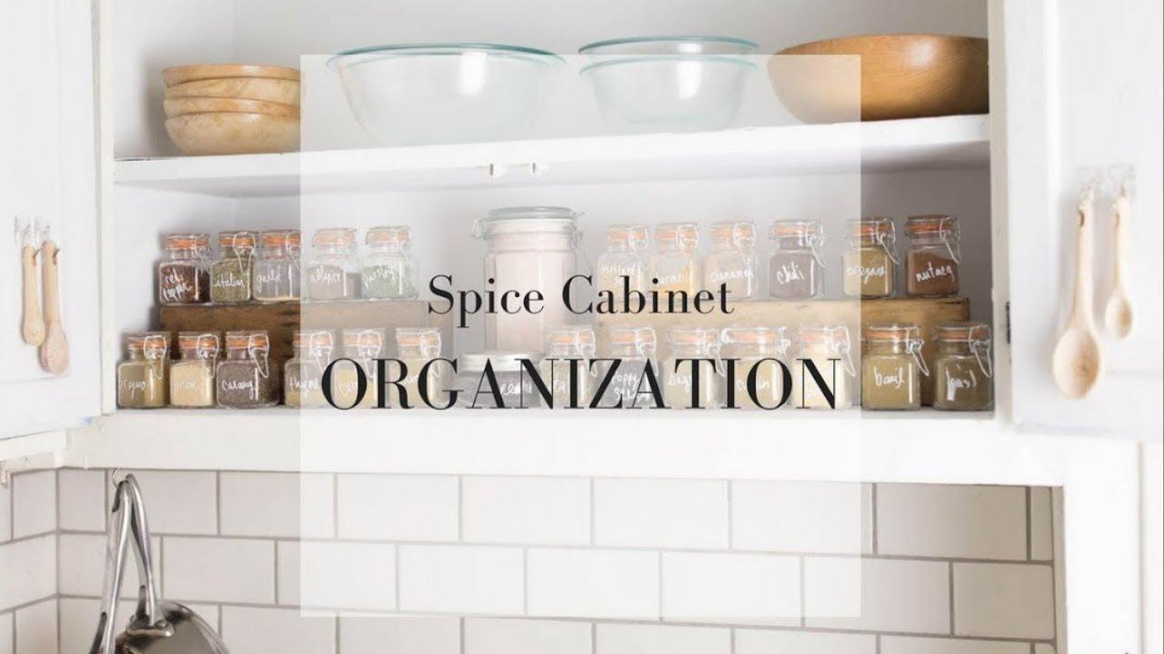 Spice Cabinet Organization Ideas | Minimalist Kitchen - YouTube