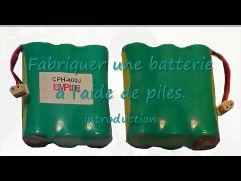 Rechargeables Avec Une Batterie Piles Des Fabriquer wm80vNn