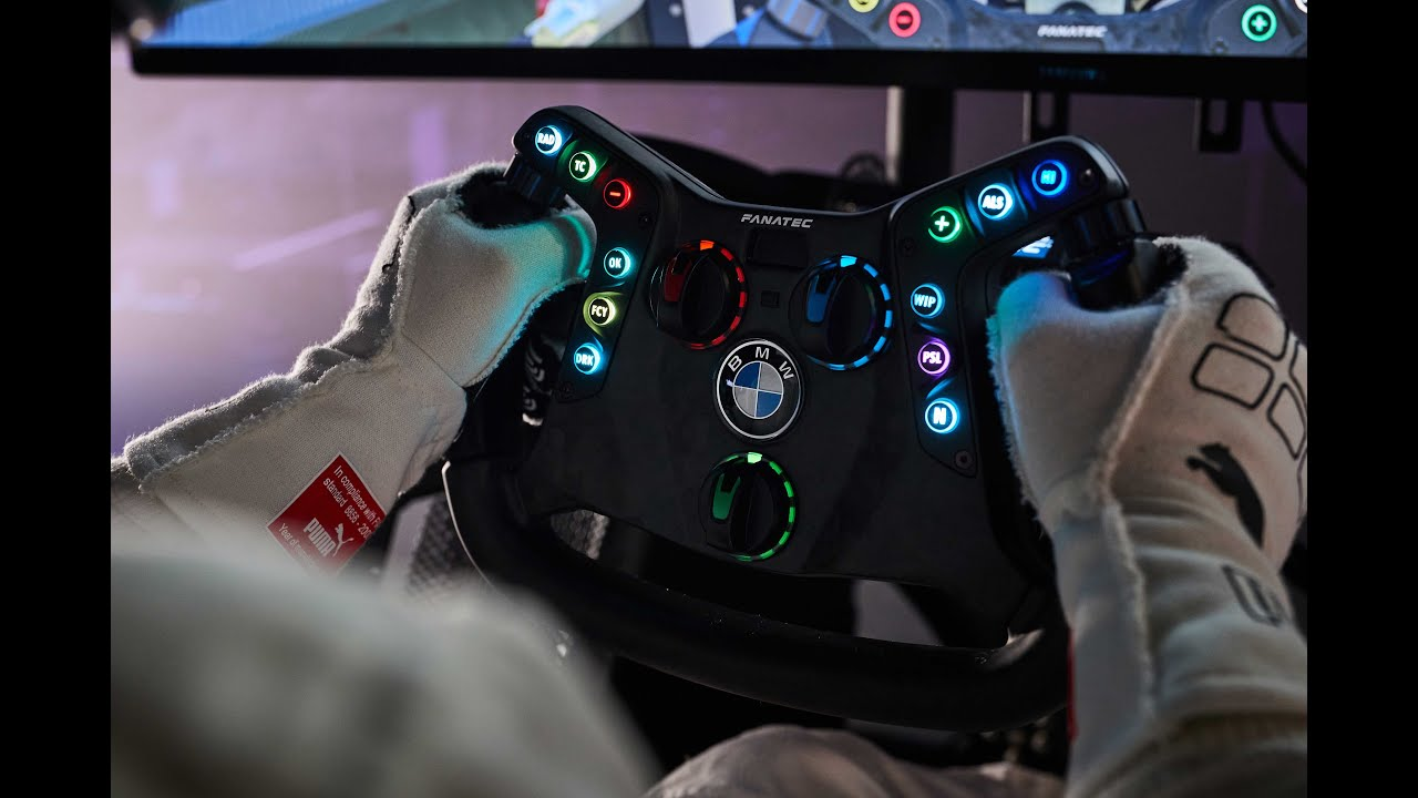 Fusion: The Fanatec steering wheel for the BMW M4 GT3.