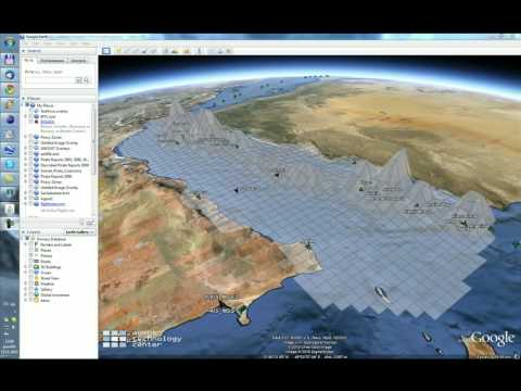 Visualizing simulations using Google Earth and dynamic KML
