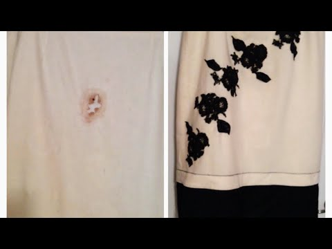 Diy Life Sewing Hack How To Repair A Burn Hole In A