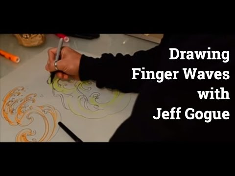 Jeff Gogue - Drawing Japanese Finger Waves - TattooNOWTV Channel