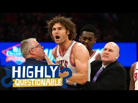 Robin Lopez throws chair after being ejected from Bulls-Kings | Highly Questionable | ESPN