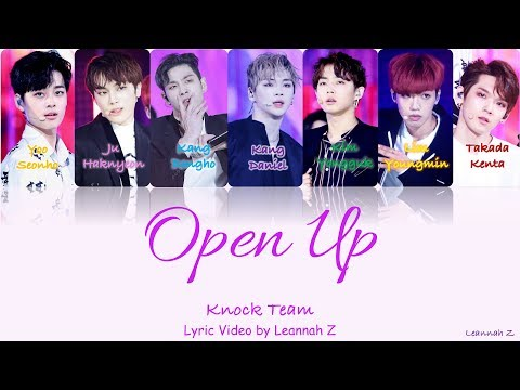 [Produce 101] Knock Team- Open Up (열어줘) Official Lyrics (Rom/Han/Eng)