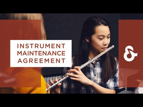 Instrument Maintenance Agreement from Music & Arts