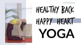 Hearth Opening Back Bend Yoga - Healthy Back - Happy Hearth - Liel Cheri Yoga