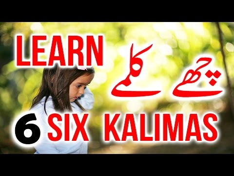 Learn 6 Kalmay - The 6 (six) Kalimas - چھے کلمے   ( English & Urdu ) By Saad Al Qureshi
