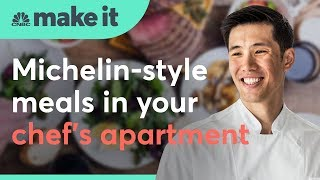 This chef makes a living cooking dinner out of his apartment   CNBC Make It