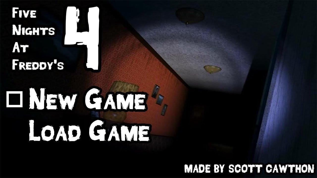 Fnaf 4 gameplay demo 1 menu teaser trailer fan made youtube