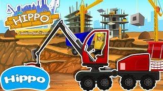 Гиппо 🌼 Строительные машины 🌼 Харвестер и Лесопилка 🌼 Мультик игра для детей