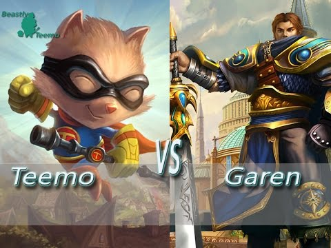 League of Legends - Super Teemo vs Garen - Ranked Unofficial Penta Kill 5.17 Reworks