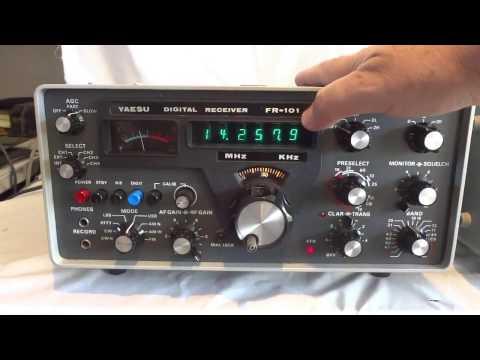 Vintage Yaesu twins FR-101D & FL-101 HF & VHF transceiver