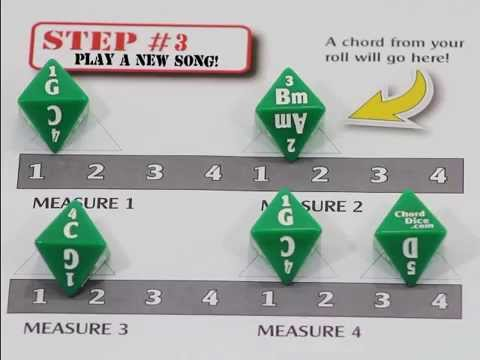 Chord Dice Chord Game For Guitar Players