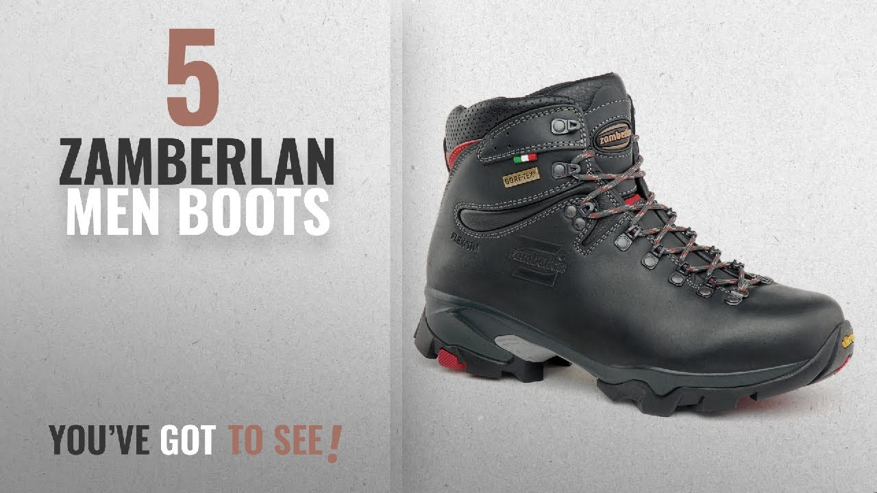 7f5c13849bc Top 10 Zamberlan Men Boots [ Winter 2018 ]: Zamberlan Men's 996 Vioz GT  Hiking Boot,Dark Grey,8.5 M