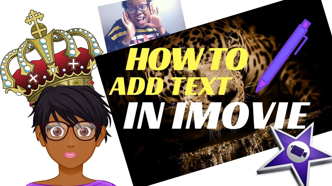 How To Add Text In iMovie- iMovie Tutorials - YouTube