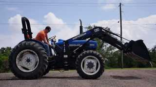 Demo of used Ford New Holland 3930 Tractor with Loader