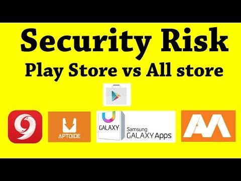 Google Play Store vs Aptoide vs 9Apps | Security risk of top play store alternative