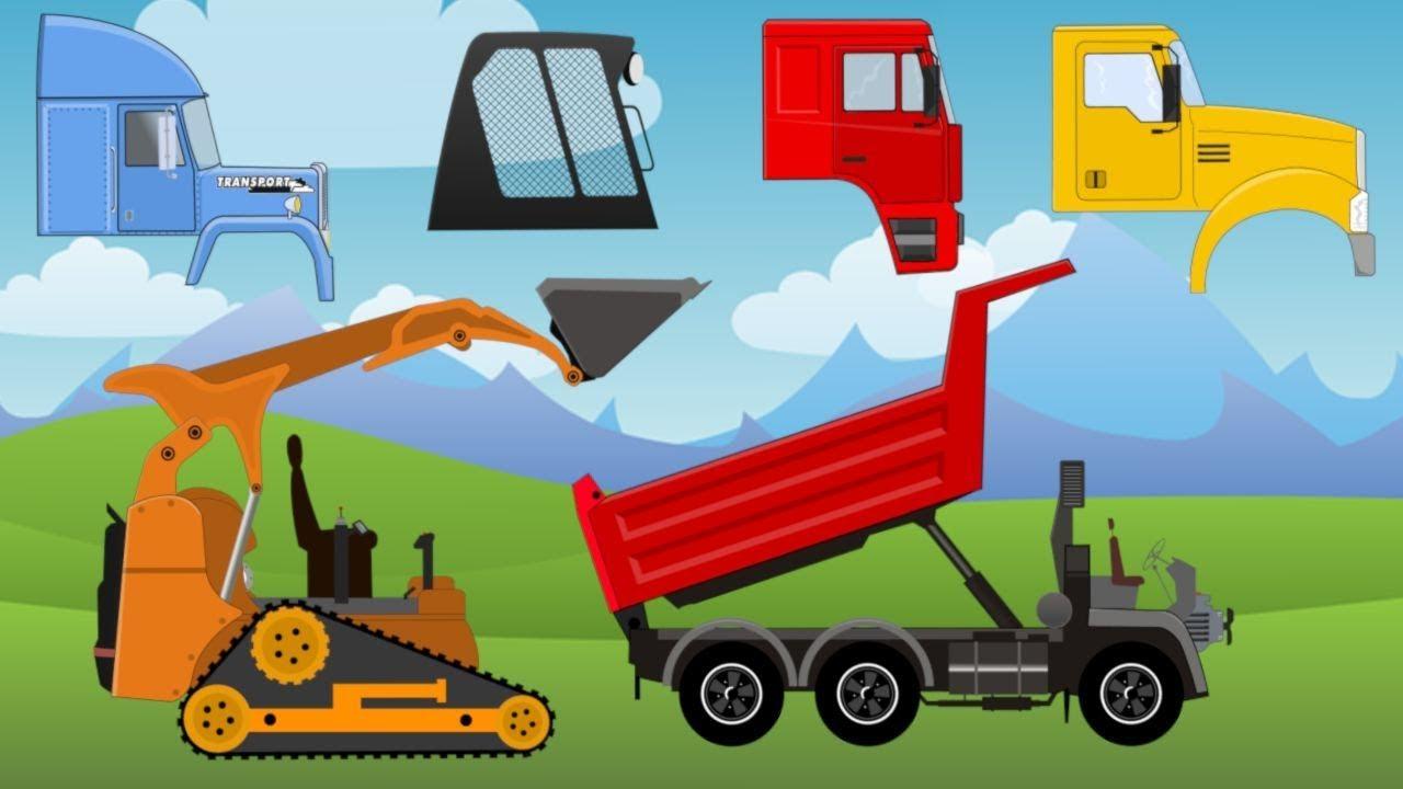 Dạy vận chuyển, xe ủi, xe chở rác, xe tải tự đổ Học nói