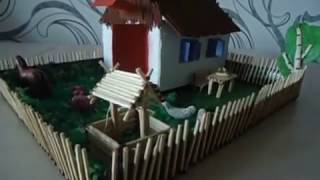 Поделка для детского сада, дома с ребенком из спичек и пластилина Как развивать мелкую моторику рук