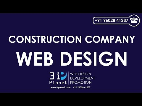 Construction Company Website Design Company Udaipur, Rajasthan, India