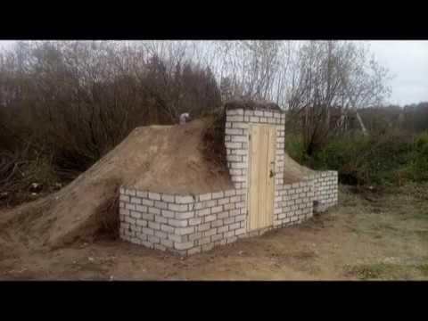 Как построить насыпной погреб