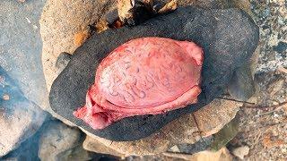 石焼き牛の金玉ステーキ!
