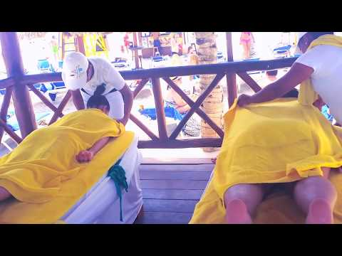 😍😎💖 in Mexico Massage on the Beach Asmr Resort Massage