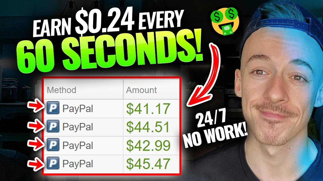 Download Get Paid $0.24 Every 60 Seconds (NEW METHOD!) | Make Money Online For Beginners