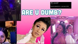 Cardi B Pulls Up To Fight Fan(Staged) + Cardi Shades Nicki Minaj, Karol G & Tasha K | COMMENTARY