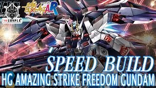 speed build hg amazing strike freedom gundam by tid gunpla