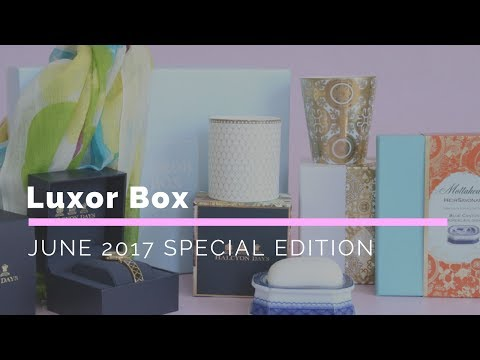 Luxor Box June 2017 Special Edition Subscription Box Unboxing