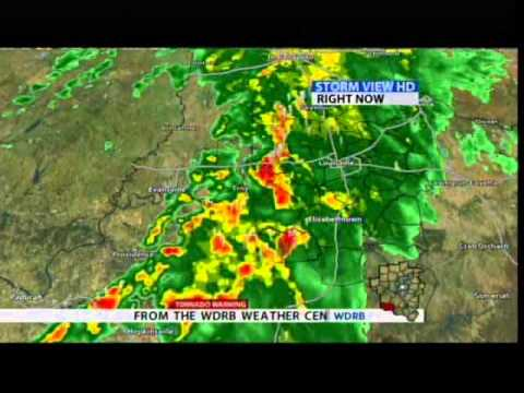 WDRB-TV - Severe Weather Coverage - Grayson Co  Tornado Warning (Part II) -  9/25/2011