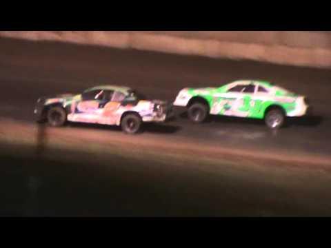 IMCA Stock Car Wreck at Shawano Speedway 4/30/16
