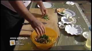 Салат с блинами
