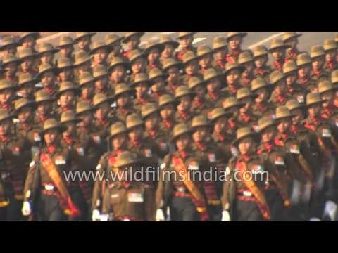 India's Republic Day: Indian Army marching bands, in sharp HD
