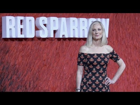 Joely Richardson on the red carpet premiere of Red Sparrow in London