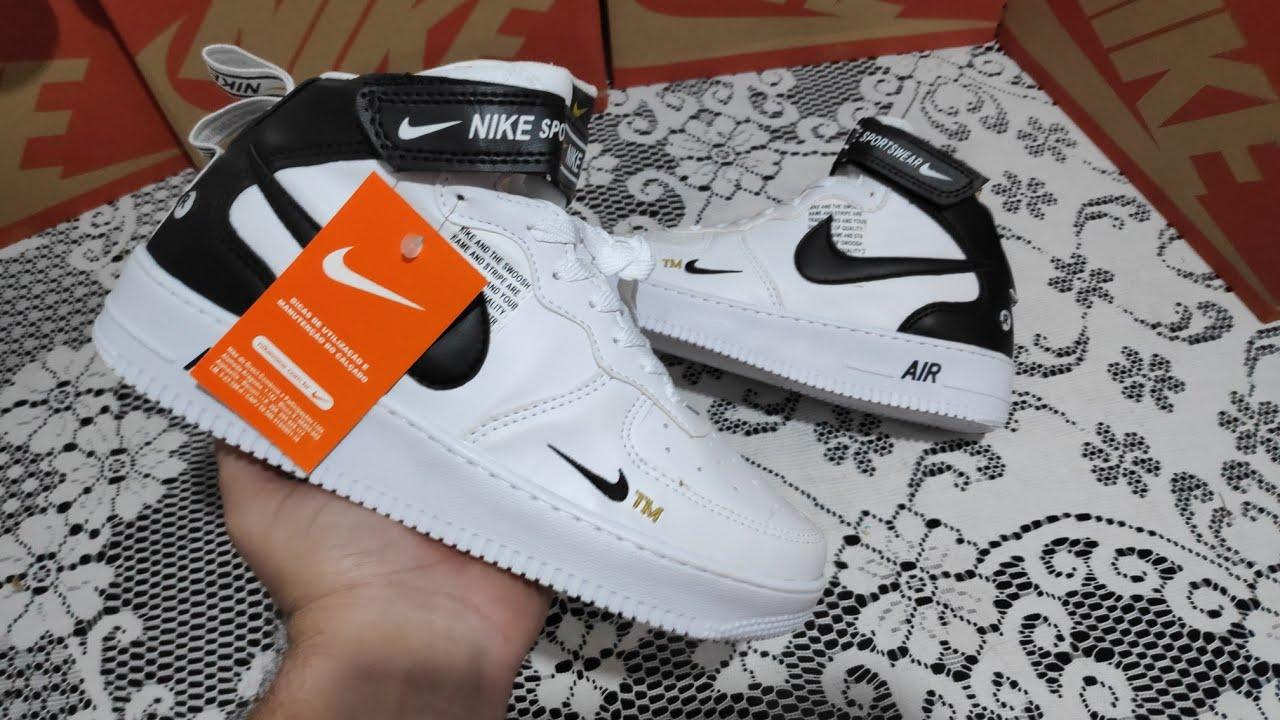 sufrimiento importante Evaluable  Bota Nike Air Force r$ 200 envio Brasil via pac e sedex Whatsapp  21.9696.71.811 - YouTube