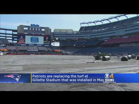 Patriots Replacing Turf At Gillette Stadium